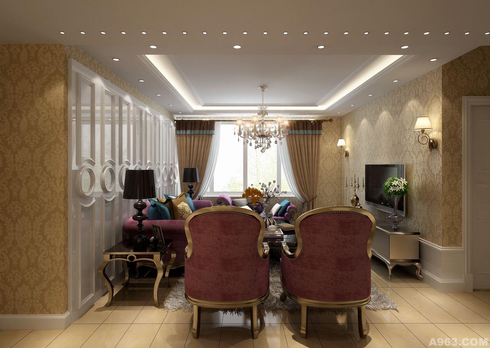 新贵欧式 设计:胡兵阅读:7次类别:家装设计 材料:铁锈地砖,银色欧式