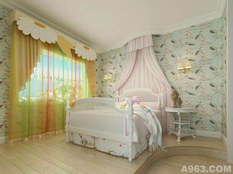 欧式装修卧室公主房别墅