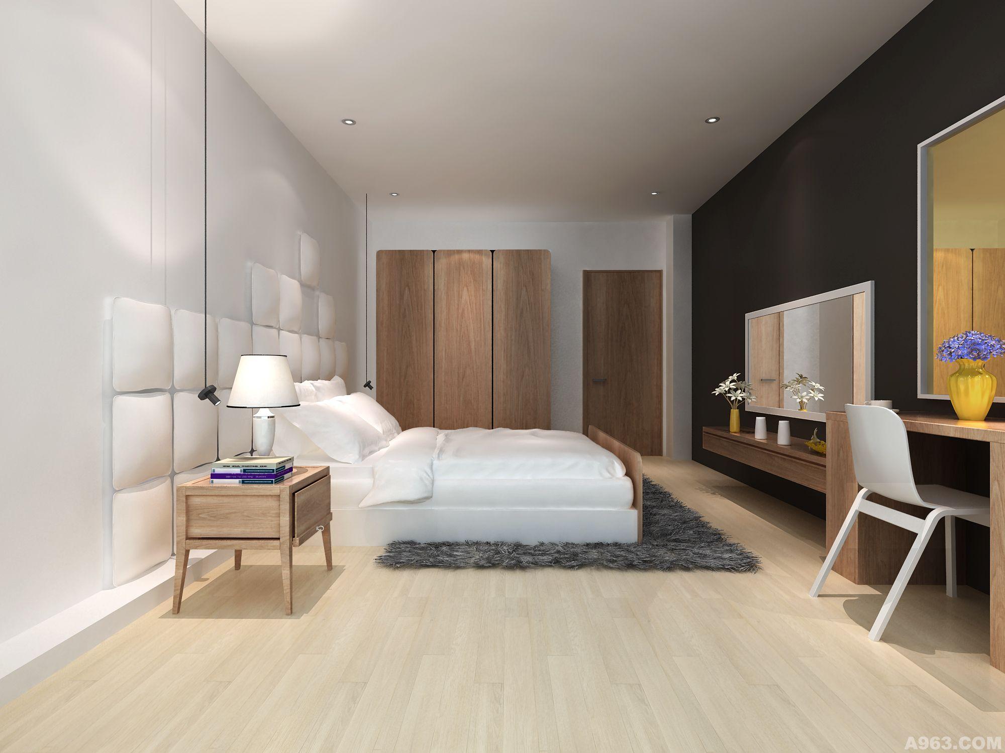 北欧卧室壁纸贴图素材